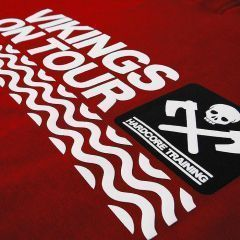 Худи Hardcore Training Vikings On Tour - красный