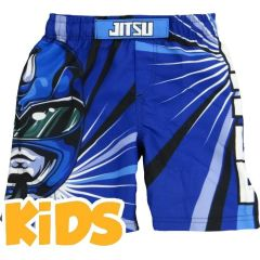 Детские ММА шорты Jitsu Power Grapplers - синий