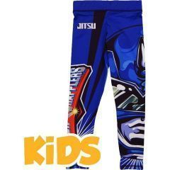 Детские компрессионные штаны Jitsu Power Grapplers - синий