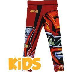 Детские компрессионные штаны Jitsu Power Grapplers - красный