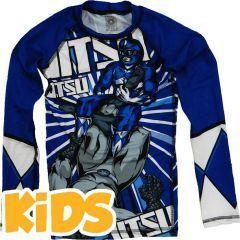 Детский рашгард Jitsu Power Grapplers - синий