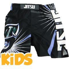 Детские ММА шорты Jitsu Power Grapplers - черный