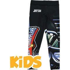 Детские компрессионные штаны Jitsu Power Grapplers - черный