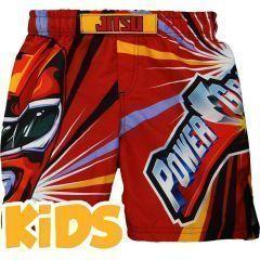 Детские ММА шорты Jitsu Power Grapplers - красный