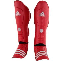 Защита голени и стопы Adidas WAKO Super Pro Shin Instep Guards красная