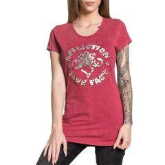 Женская футболка Affliction Divio Patchwork