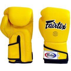 Боксерские перчатки Fairtex BGV6 - желтый/черный