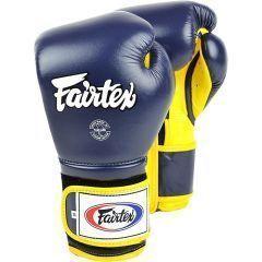 Боксерские перчатки Fairtex BGV9 - navy/yellow