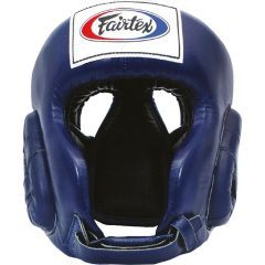 Боксерский шлем Fairtex HG6 - синий