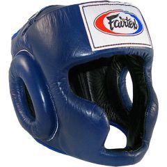 Боксерский шлем Fairtex HG3 - синий