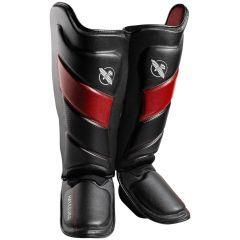 Защита голени и стопы (шингарды) Hayabusa T3 - черный/красный