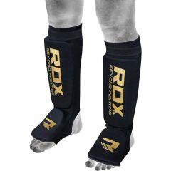 Шингарды (накладки на ноги) RDX HYP-SIB - черный/золотой