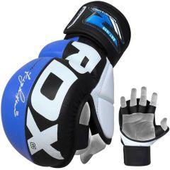 Гибридные ММА перчатки RDX GGL-T6 - синий/черный