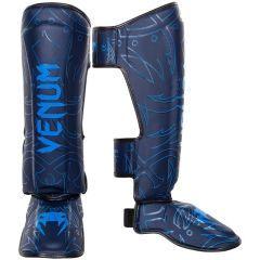 Тайские шингарды (накладки на ноги) Venum Nightcrawler - синий