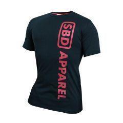 Женская футболка SBD - черный/красный