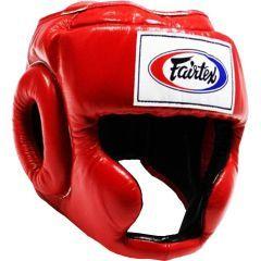 Боксерский шлем Fairtex HG3 - красный