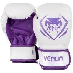 Боксерские перчатки Venum Contender White/Purple