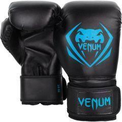 Боксерские перчатки Venum Contender Black/Cyan