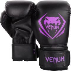 Боксерские перчатки Venum Contender Black/Purple
