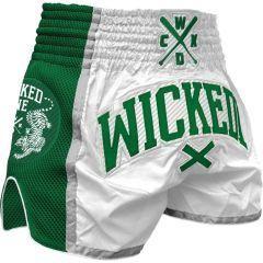 Тайские шорты Wicked One GREEN & WHITE