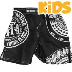 Детские мма шорты Hardcore Training Ta Moko Black