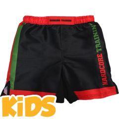 Детские мма шорты Hardcore Training Red-Green