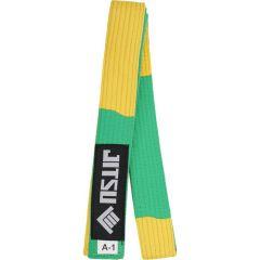 Пояс для соревнований БЖЖ Jitsu - yellow - green