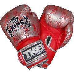Боксерские перчатки Top King Snake Skin Red/Silver