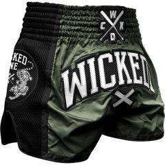 Шорты для тайского бокса Wicked One Cross Khaki