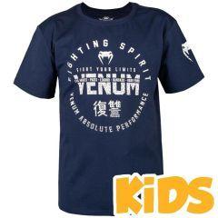 Детская футболка Venum Signature Navy Blue