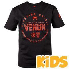 Детская футболка Venum Signature Black/Red