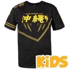 Детская футболка Venum Okinawa 2.0 Black/Yellow