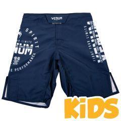 Детские ММА шорты Venum Signature Navy Blue