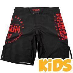 Детские ММА шорты Venum Signature Black/Red