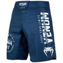 ММА шорты Venum Signature Navy Blue/White