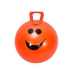 Мяч-попрыгун LiveUp 45 см оранжевый с ручкой
