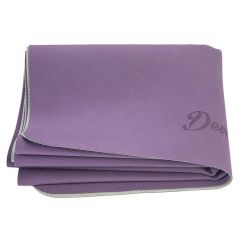Суперлёгкий коврик для йоги ТПЕ Devi Yoga (фиолетово-серый)