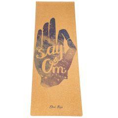 Пробковый коврик для йоги Devi Yoga Say Om