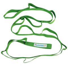 Лента с петлями для растяжки Atletika24 зеленая