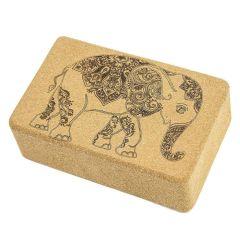 Пробковый йога блок Devi Yoga Слон