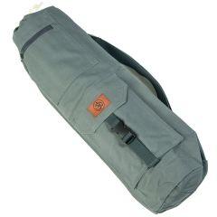 Хлопковая сумка для коврика Devi Yoga Сутра серая
