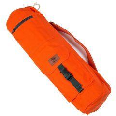 Хлопковая сумка для коврика Devi Yoga Сутра оранжевая