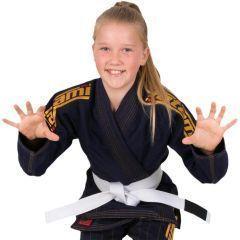 Детское кимоно (ги) для БЖЖ Tatami Estilo 6.0 Navy & Gold