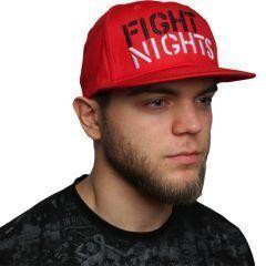 Снэпбэк (бейсболка) Fight Nights - красный