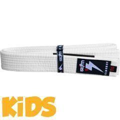 Детский пояс для кимоно БЖЖ Storm - белый