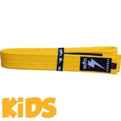 Детский пояс для кимоно БЖЖ Storm - желтый