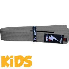 Детский пояс для кимоно БЖЖ Storm - серый