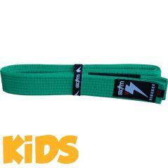 Детский пояс для кимоно БЖЖ Storm - зеленый