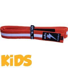 Детский пояс для кимоно БЖЖ Storm - оранжевый/белый