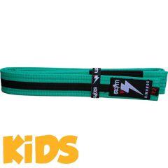 Детский пояс для кимоно БЖЖ Storm - зеленый/черный